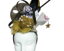 MONROE - Couture Gold Hollywood Glamour Headdress