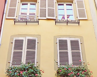 Open n' Closed, France Photography, Window Photography, Travel Photography, Art Print, Wall Decor