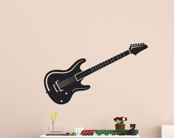 Vinyl Wall Decal Guitar Home Decor Office Decor Wall Art Sticker