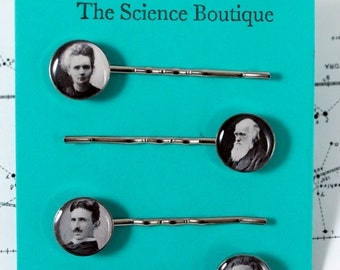 Famous Scientist Hair Pins