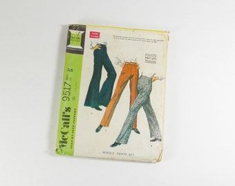 McCalls 9517 - Vintage 1968 - Misses Pants Set Pattern Waist 27 Hip 38
