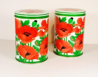 Vintage Poppy Tins Hallmark