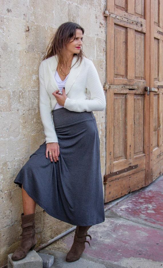 grey skirt maxi skirt high waisted maxi skirt a line skirt