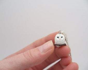 Tiny Barn Owl Necklace
