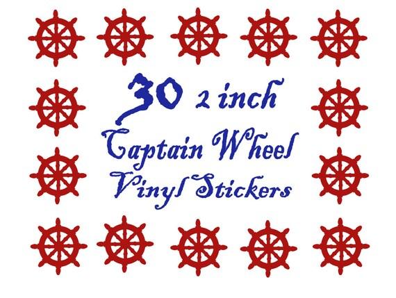 SALE 60 2 inch NAVY BLUE Vinyl Nautical Captain Wheel Stickers, Envelope Seals, Party Favors, Party Glasses, Unlimited Possibilities