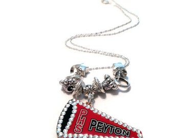 Personalized Cheerleader Necklace, Cheer Mom Gifts