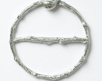 Bird Wren Scarf Ring Handmade Pewter Scarf Rings