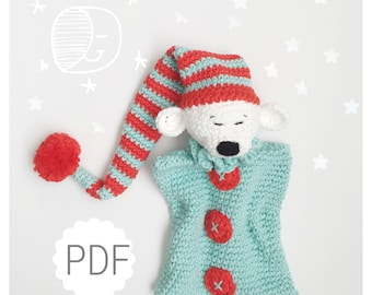 PDF crochet pattern Sleepy MIsha Security Blanket