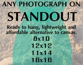 Any Photograph on Standout, Lightweight Mount, No Framing Needed