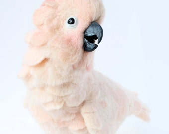 Needle Felted Moluccan Cockatoo, Customized For You