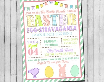 Easter Egg Hunt Invitation | Easter Bunny Invitation | Easter Egg Hunt | Digital Invitation
