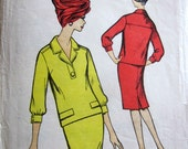 """SALE Vintage 1960's Blackmore 9734 Sewing Pattern Skirt Top Suit  Size 18 - 38"""" Bust"""