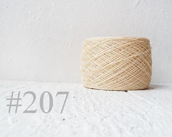 Ivory Laceweight Linen yarn - cream linen thread #207
