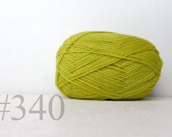 WOOL yarn 100%-knitting yarn - bright green  #340