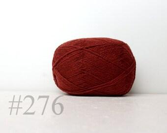 WOOL yarn 100%-knitting yarn -  fall brown #276