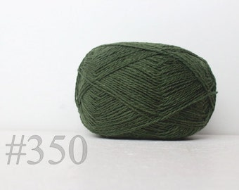 WOOL yarn 100%-knitting yarn - pine green #350