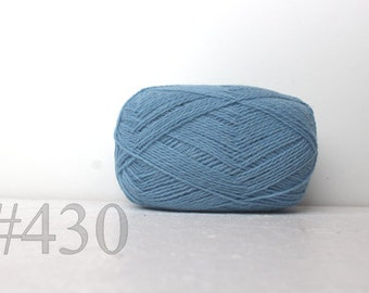 WOOL yarn 100%-knitting yarn -  sky blue # 430