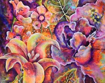 Tropical Flowers Print