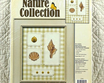 Seashells, Counted Cross Stitch Kit, Leisure Arts 115561, Nature Collection, 8 x 10