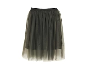 Tulle skirt dark chocolate color | engagement | party skirt | princess | wedding | birthday | gift | elegant | grace | dream skirt