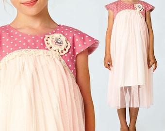 Girls Dress Pattern PDF, Flower Girl Dress Pattern, Childrens Sewing Pattern, Girls Sewing Pattern pdf, Tutu Dress Pattern, JASMINE