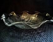 "Crystal Iris & Herringbone Jeannette Glass Serving Bowl 12"""