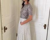 Polka Dot Maxi Skirt