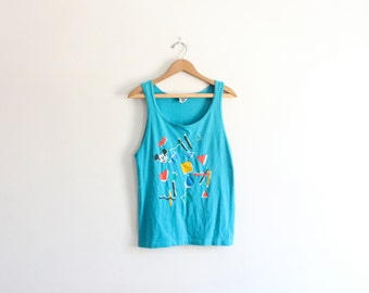 Mickey Crazy Shapes 90s Tank Top