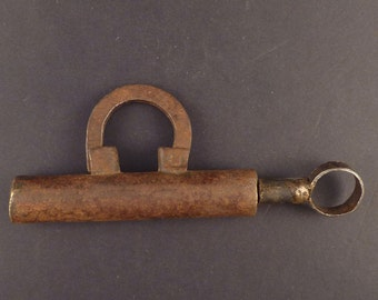 Old Middle East padlock made of iron