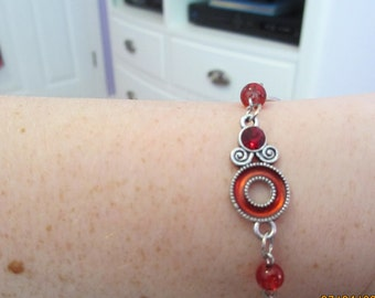 Ruby Red Charm Bracelet