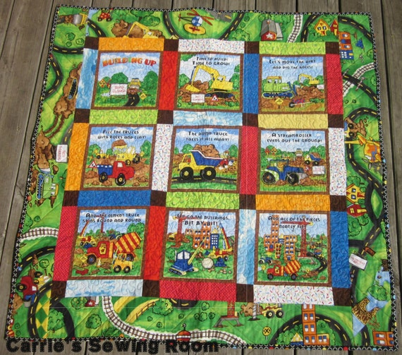 Boys Construction Zone Quilt One Of A Kind Modern Boys