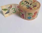 Numbers extra wide washi tape | Japanese Mt Washi tape | photo adhesive | Decorative photo tape