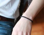 6MM Mens wood  Bracelet - Mens Bracelet - Beaded mens Bracelet