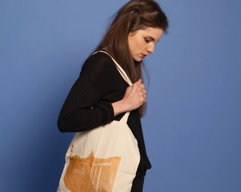 GOLD - Printed cotton tote bag