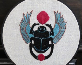 Egyptian Scarab Embroidery