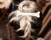 Oversized White Bone Hair Clip
