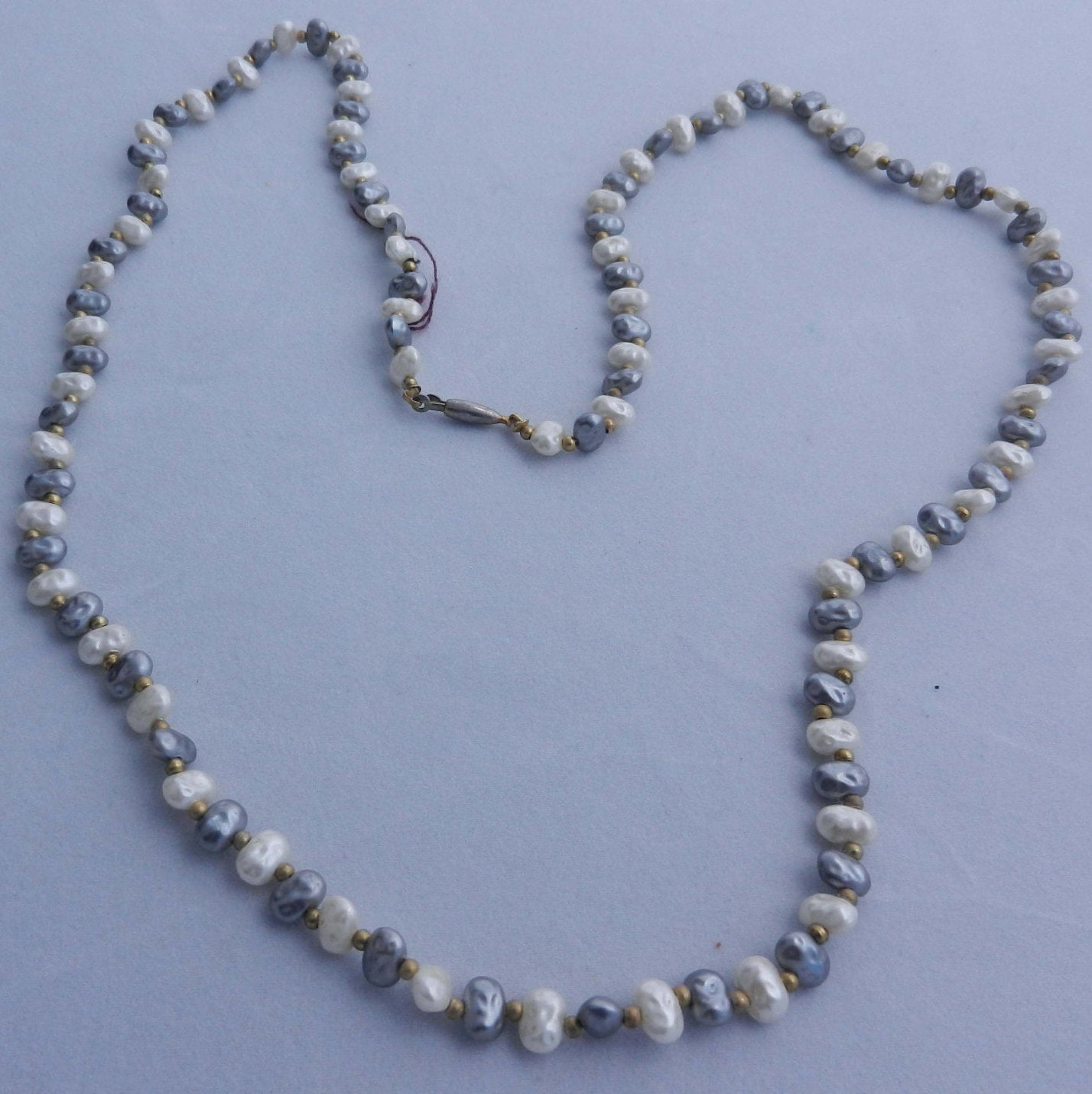 necklace vintage seed pearl by atticsnoops on etsy