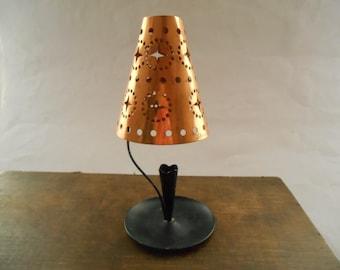 Swedish Vintage copper metal candle holder Metal candle holder Vintage lighting
