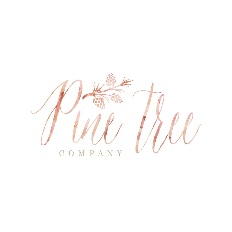 Custom logo design calligraphy watercolor