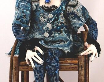 SALE! Shannon the Diva-Cloth Art Doll