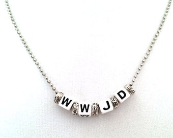 WWJD - What Would Jesus Do? Necklace - Free Shipping
