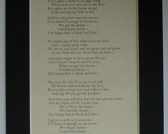1902 Antique Camel Poetry Print from Rudyard Kipling's 'Just So Stories for Little Children' Edwardian animal decor, children's nursery art