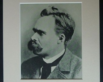 Vintage Philosophy Print of Friedrich Nietzsche German philosophical decor, intellectual history of Germany - Philosopher Gift - Thinker Art