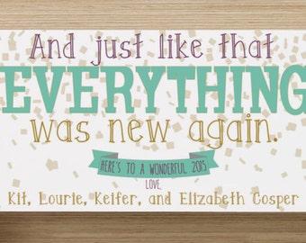 Fresh Start New Year's Card