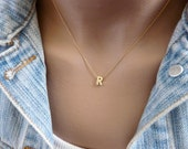Initial necklace, Letter necklace, A-Z Personalized jewelry, Dainty initial necklace, Initial jewelry, Initial pendant, Bridesmaid necklace