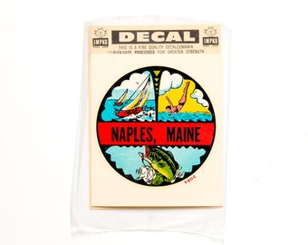 Vintage 1950s Naples, Maine Decal
