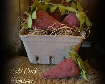 Primitive Strawberries In Berry Basket