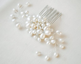 Bridal Hair Comb, Pearl Bridal Hairpiece, Bridal Hairpiece, Bridal Hair Comb