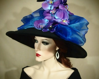 """Couture Witch Hat """"Orchid-You-Not!"""""""