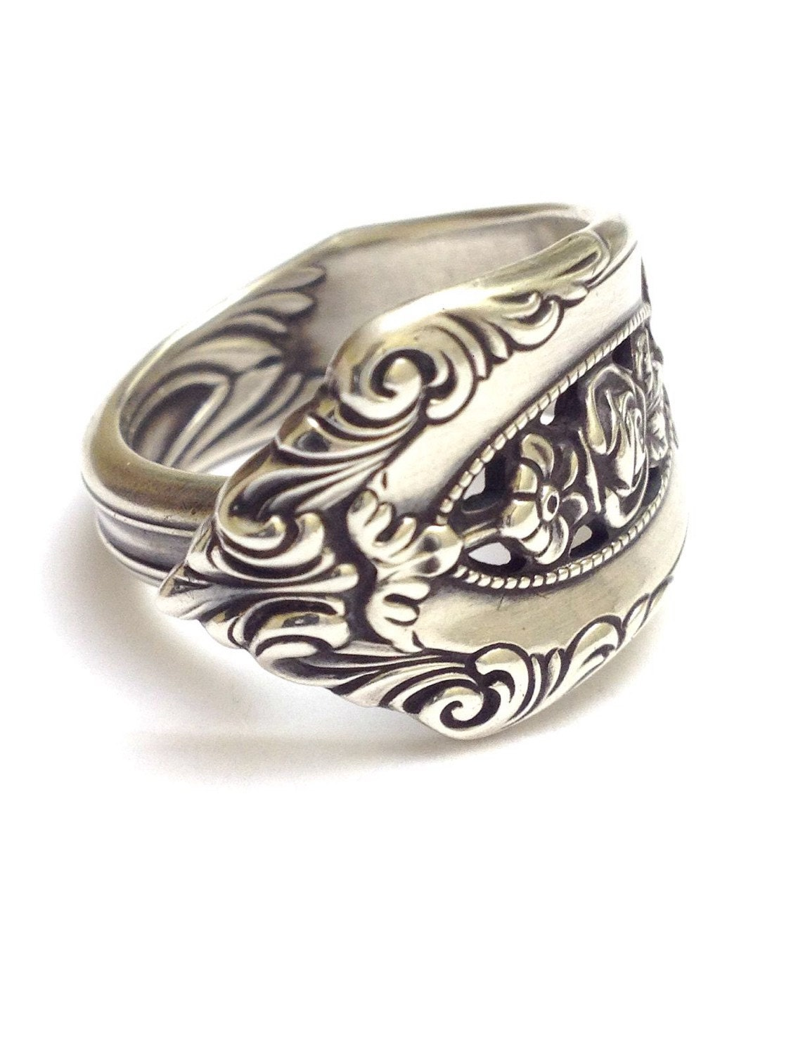 sterling silver spoon ring circa 1934 by cypressstudio on etsy